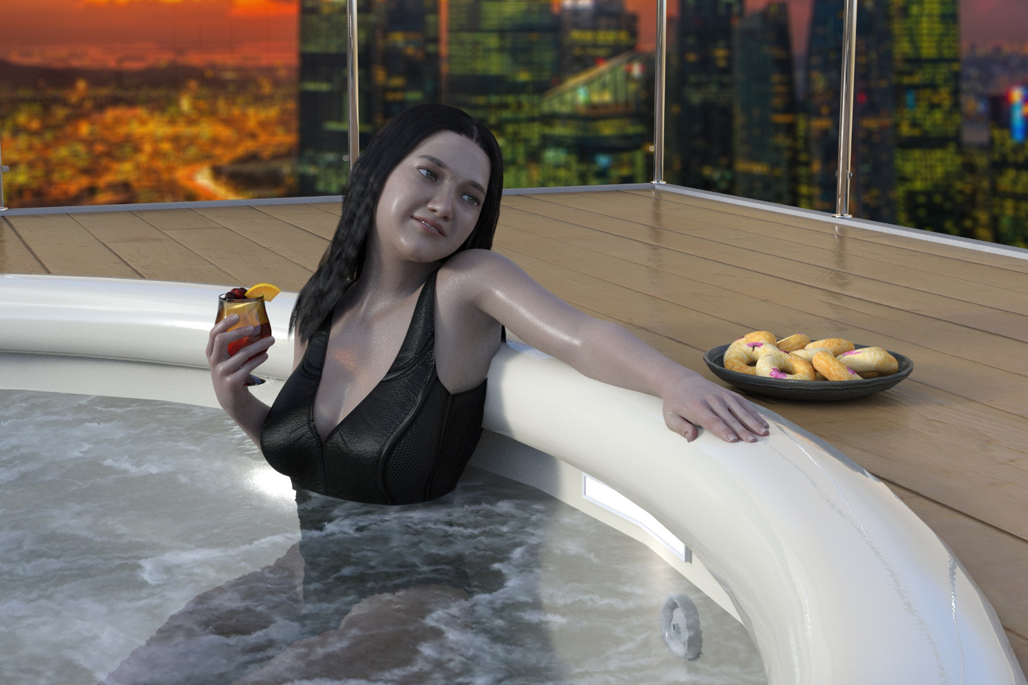 can you put an inflatable hot tub indoors