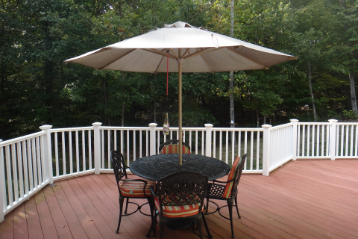 can you use a propane fire pit on a trex deck