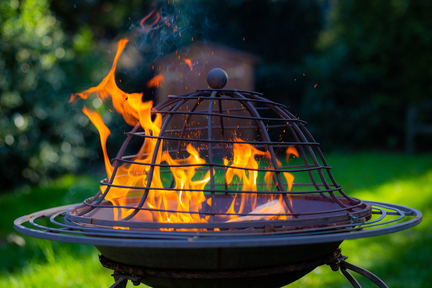 small wood burning outdoor fire pit