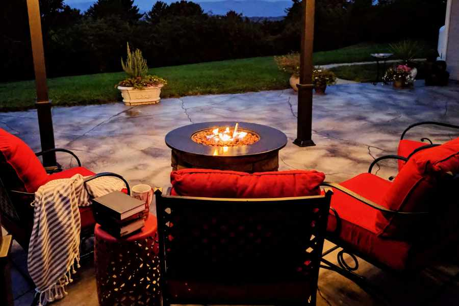 keep your fire pit from filling with water